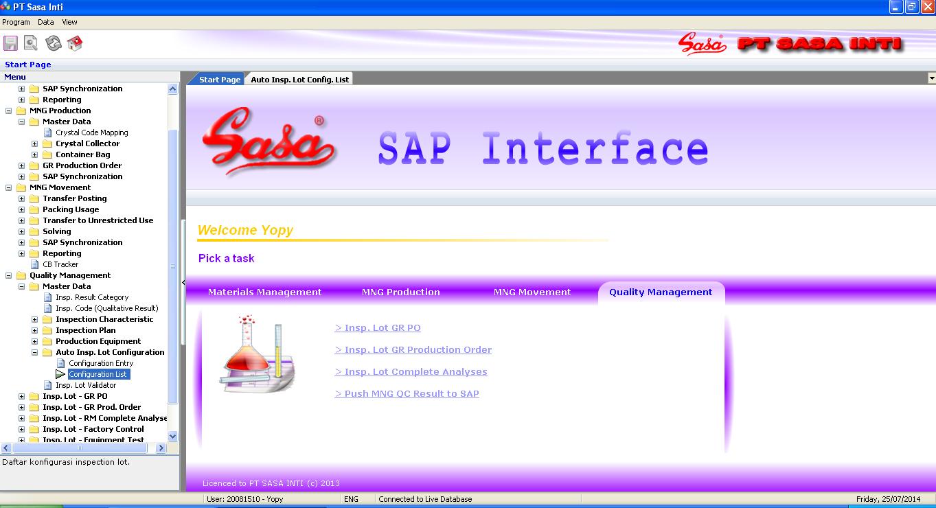 Sap Interface Elvotec Solution